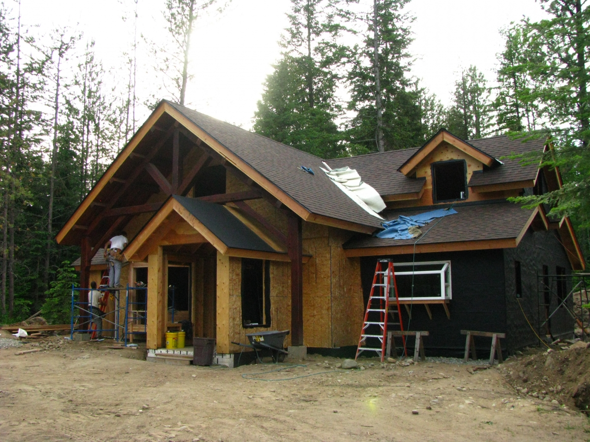 Timber Frame Home - Handcrafted Wood