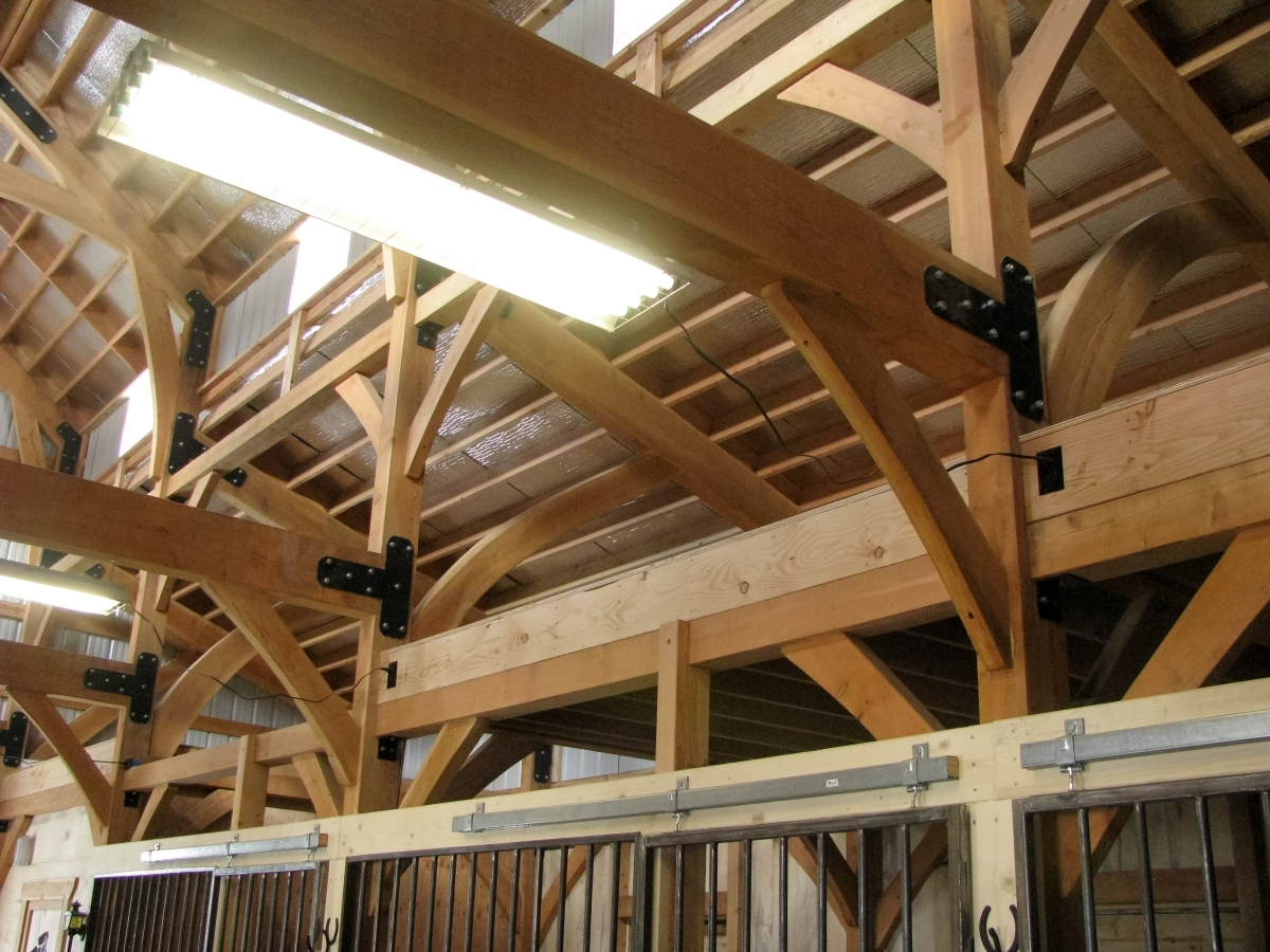 Timber Frame Barn Handcrafted Wood