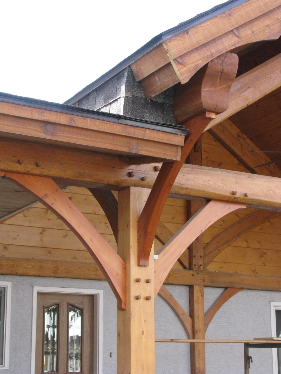 Timber Frame Ceiling Fan : Timber frame remodel and addition handcrafted wood