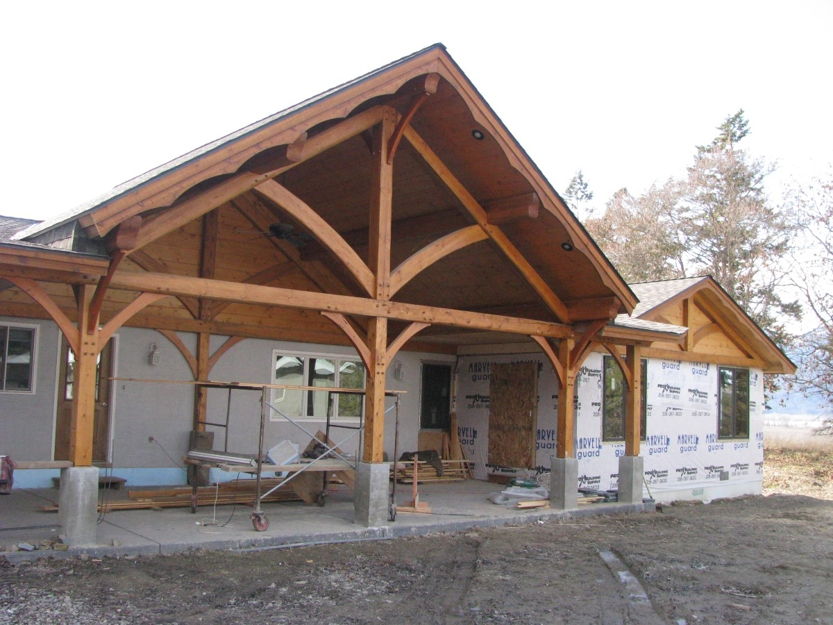 Timber Frame Remodel And Addition Handcrafted Wood