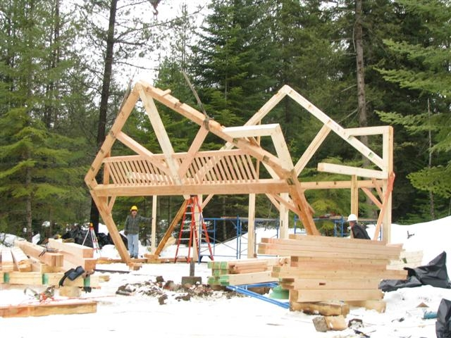 Timber Frame Home Handcrafted Wood